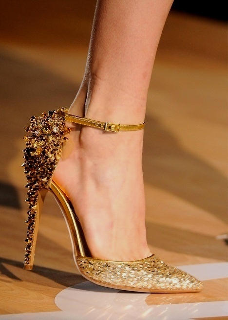 Gold Sequin Wedding Shoes yes, but not soooo high