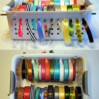 Smart Ribbon Storage Idea